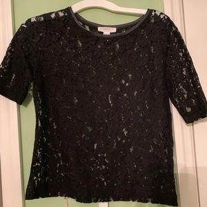 Black Foral Top